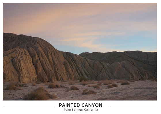 Painted Canyon Postcard