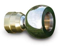 Bernoulli Power Shower Chrome & Brass