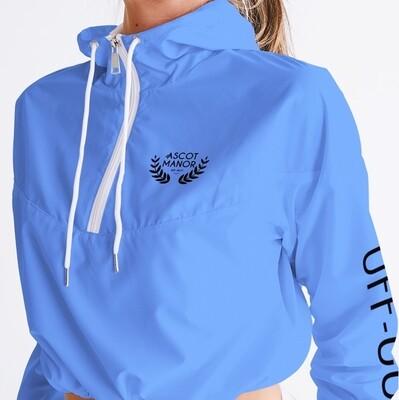 Women's New Horizon-X Baby Blue Cropped Tennis Windbreaker