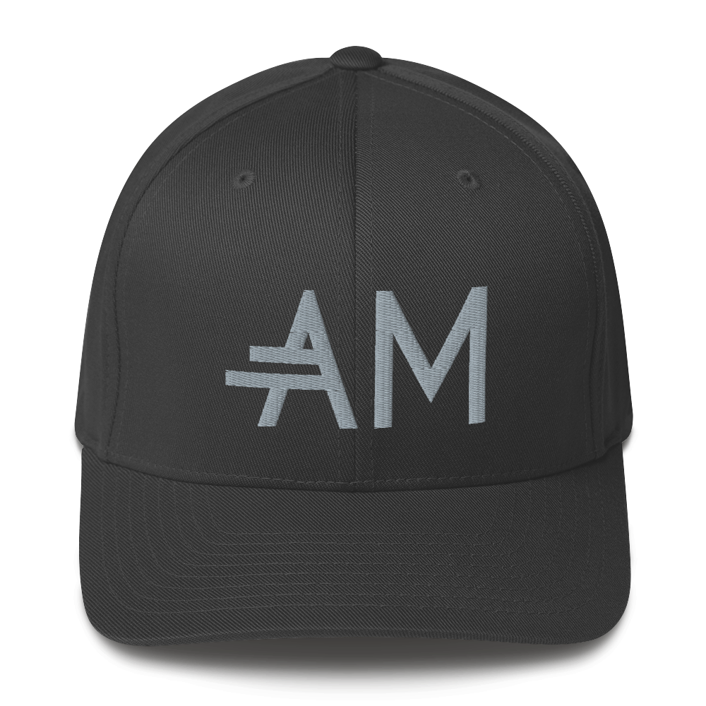 Men's A.M Grey Structured Twill Cap