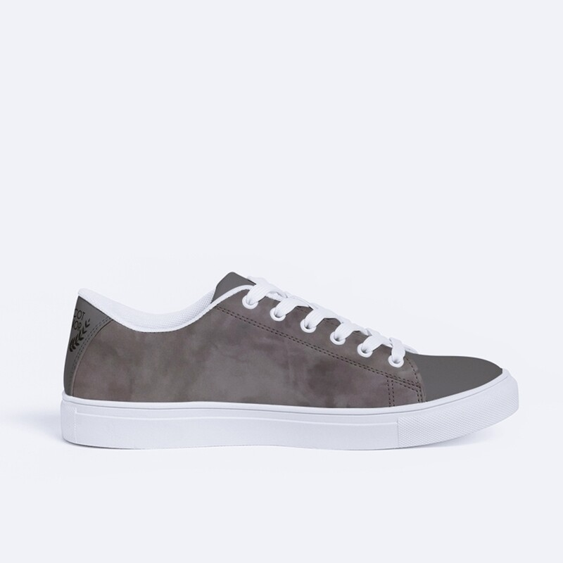 Women's A.M Two Toned Stone Faux-Leather Sneaker