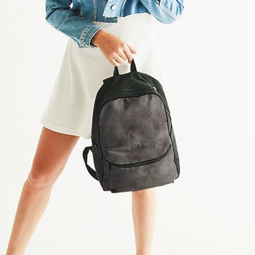 Women's A.M Grey Small Burnout Haze Backpack