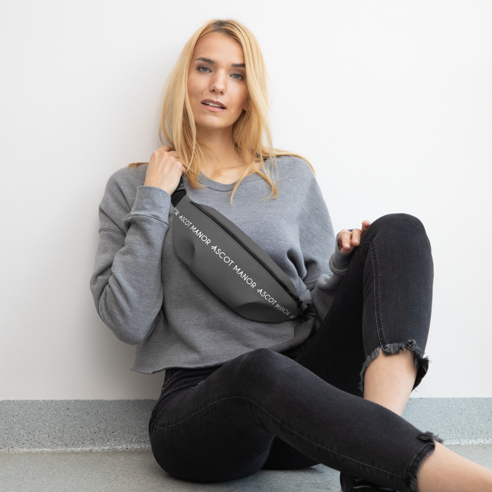 Women's A.M Grey Water Resistant Fanny Pack