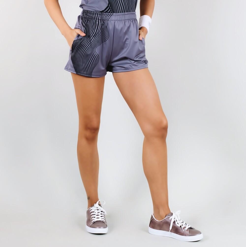 Women's A.M Grey Tennis Shorts