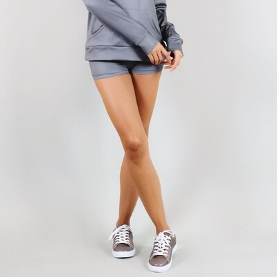 Women's A.M Grey Winter Grey Support Shorts