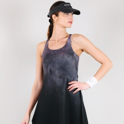 Women's A.M Grey Solstice Racerback Tennis Dress