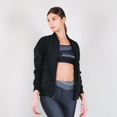 Women's A.M Grey Bomber Sport Jacket