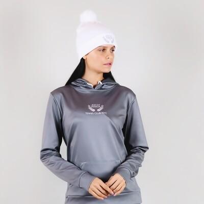 Women's A.M Grey Tennis Club Premium Hoodie