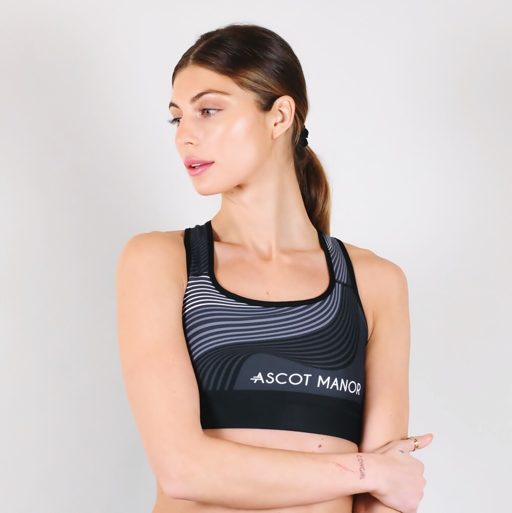 Women's A.M Grey Solstice Sports Bra