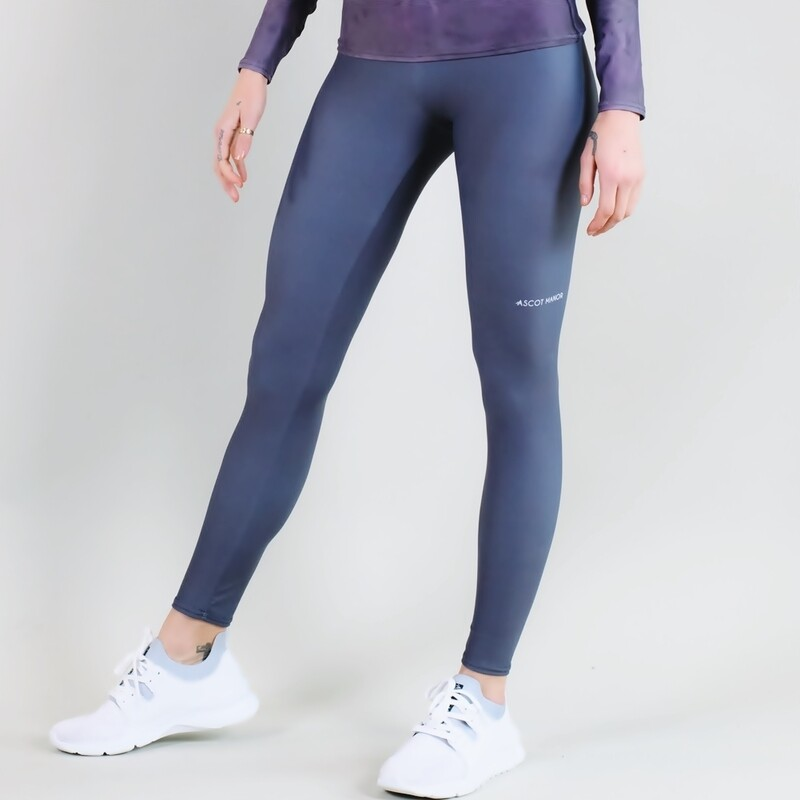 Women's A.M Grey Smoke Performance Leggings