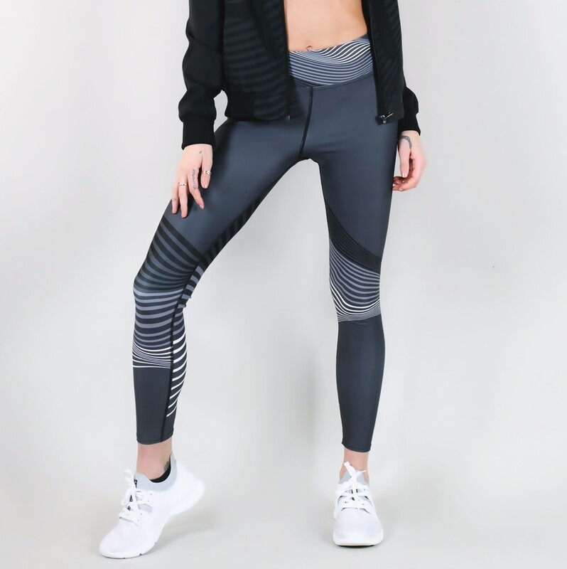 Women's A.M Grey Solstice Performance Leggings