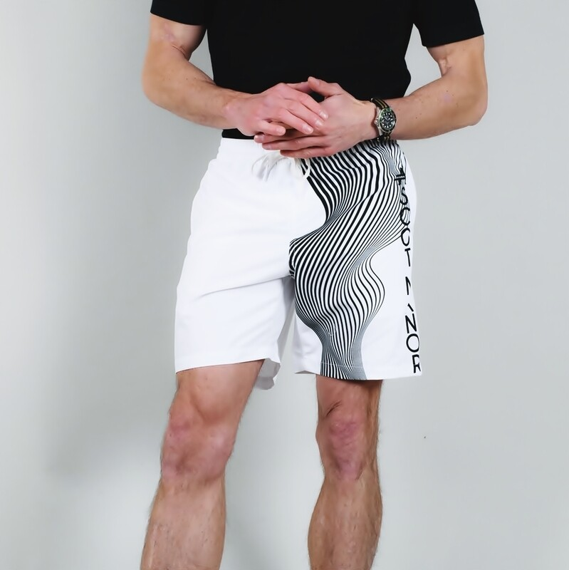 Men's A.M Grey Multi-Sport Shorts White