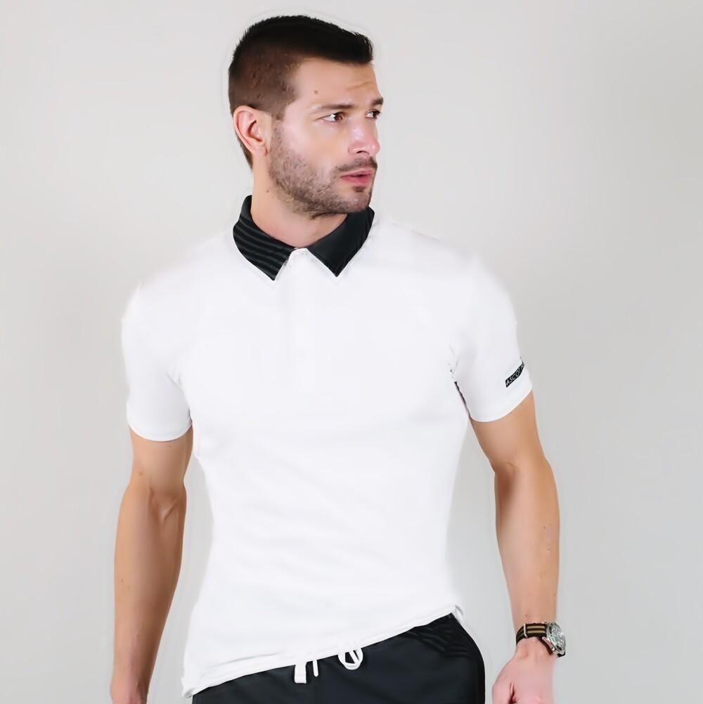 Men's A.M Grey Eco Slim Fit Sport Polo