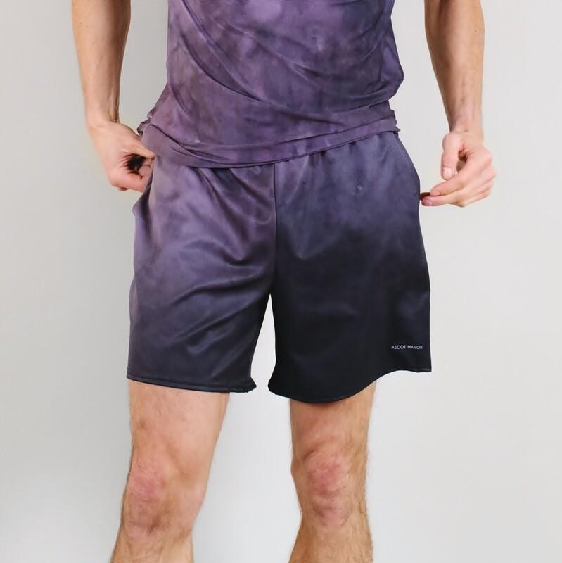 Men's A.M Grey Classic Haze Tennis Shorts With Pockets