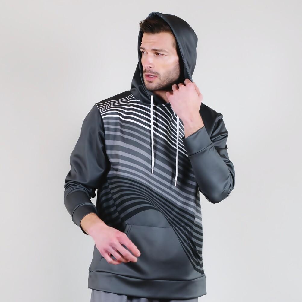 Men's A.M Grey Wear-Resistant Hoodie