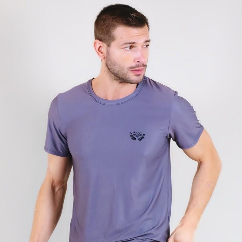 Men's A.M Grey MaxDri Tennis Shirt