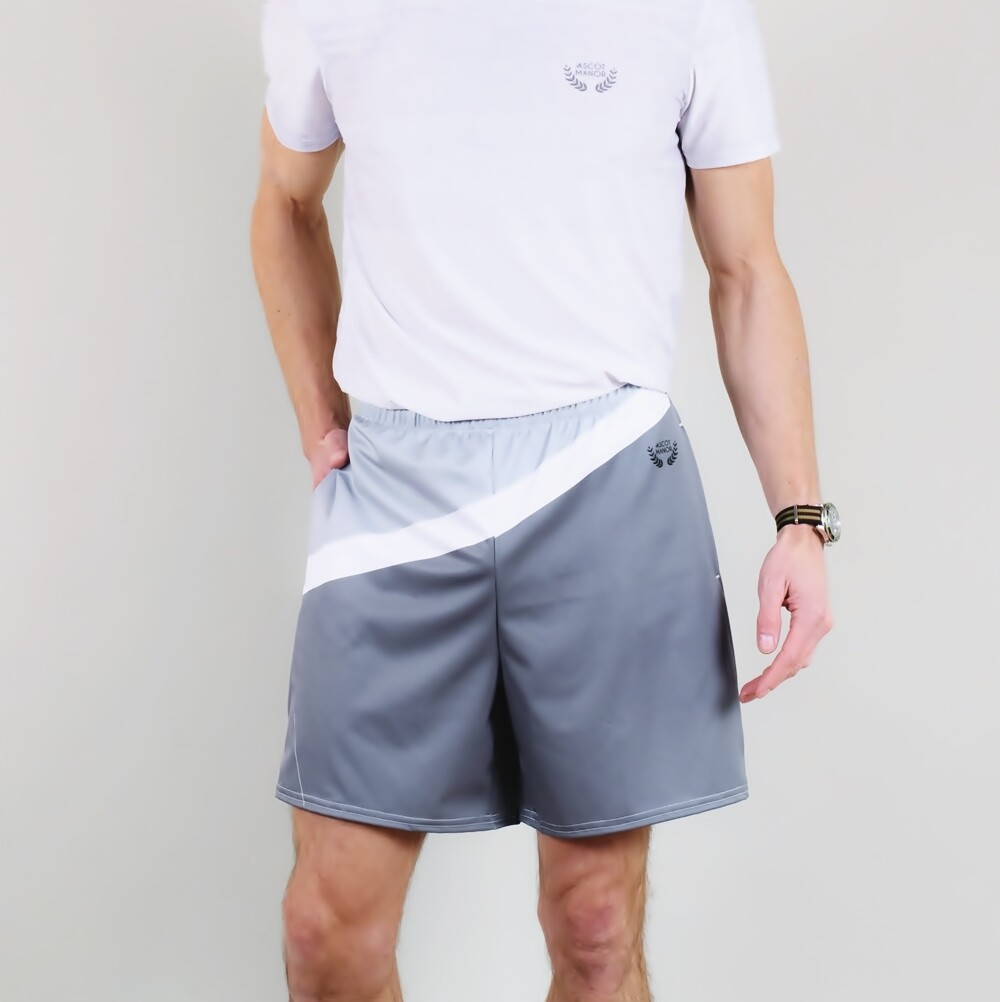 A.M Grey Classic Tennis Shorts