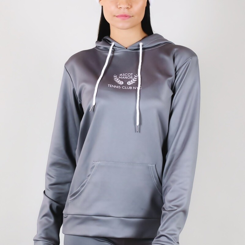 Women's A.M Grey Tennis Club Premium Hoodie