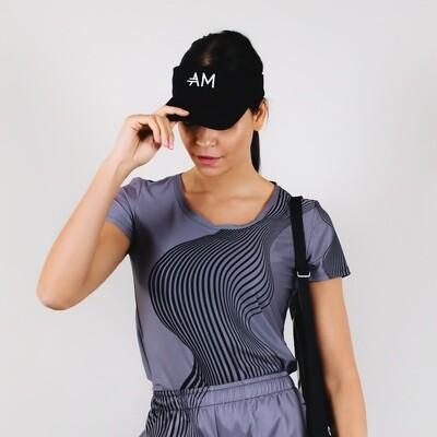 Women's A.M Grey MaxDri Tennis Shirt