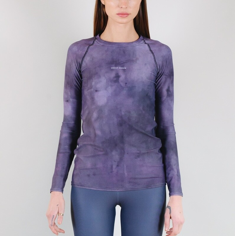 Women's A.M Grey Haze Tennis Rash Guard