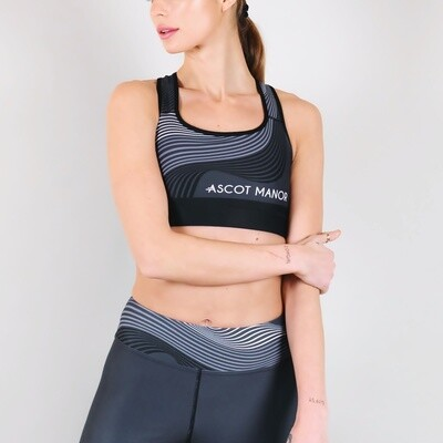 Women's A.M Grey Solstice Sports Bra