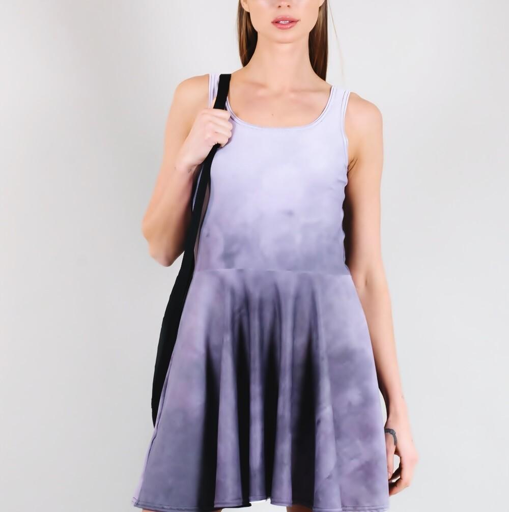 Women's A.M Grey Scoop Neck Tennis Dress