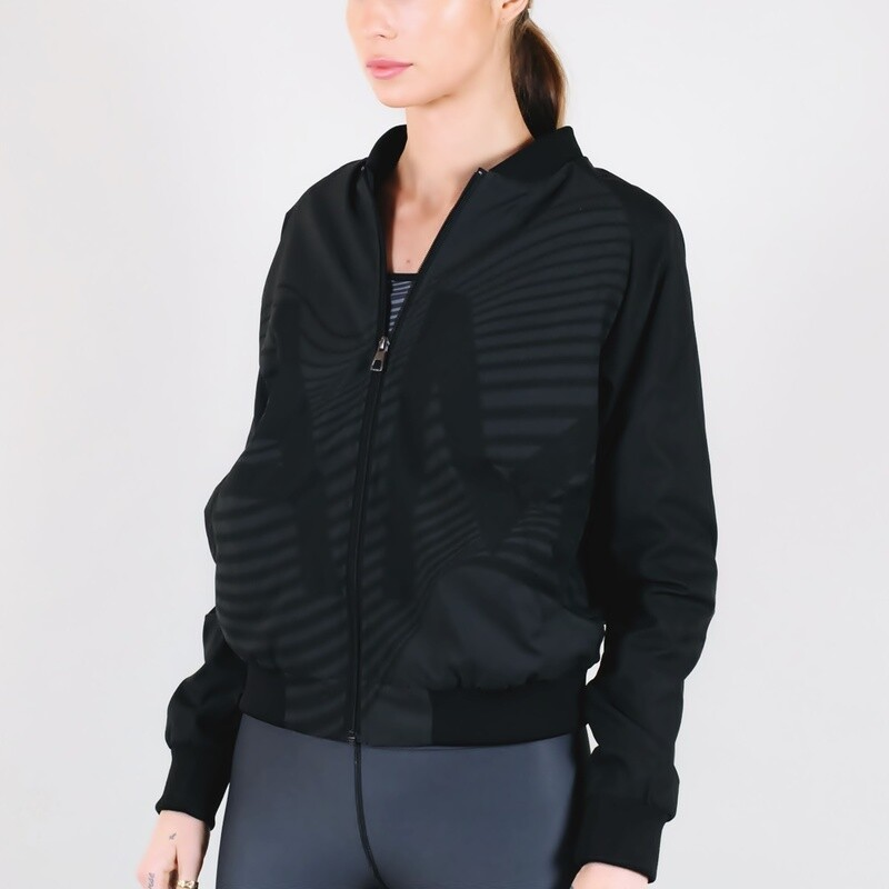 Women's A.M Grey Bomber Sport Jacket