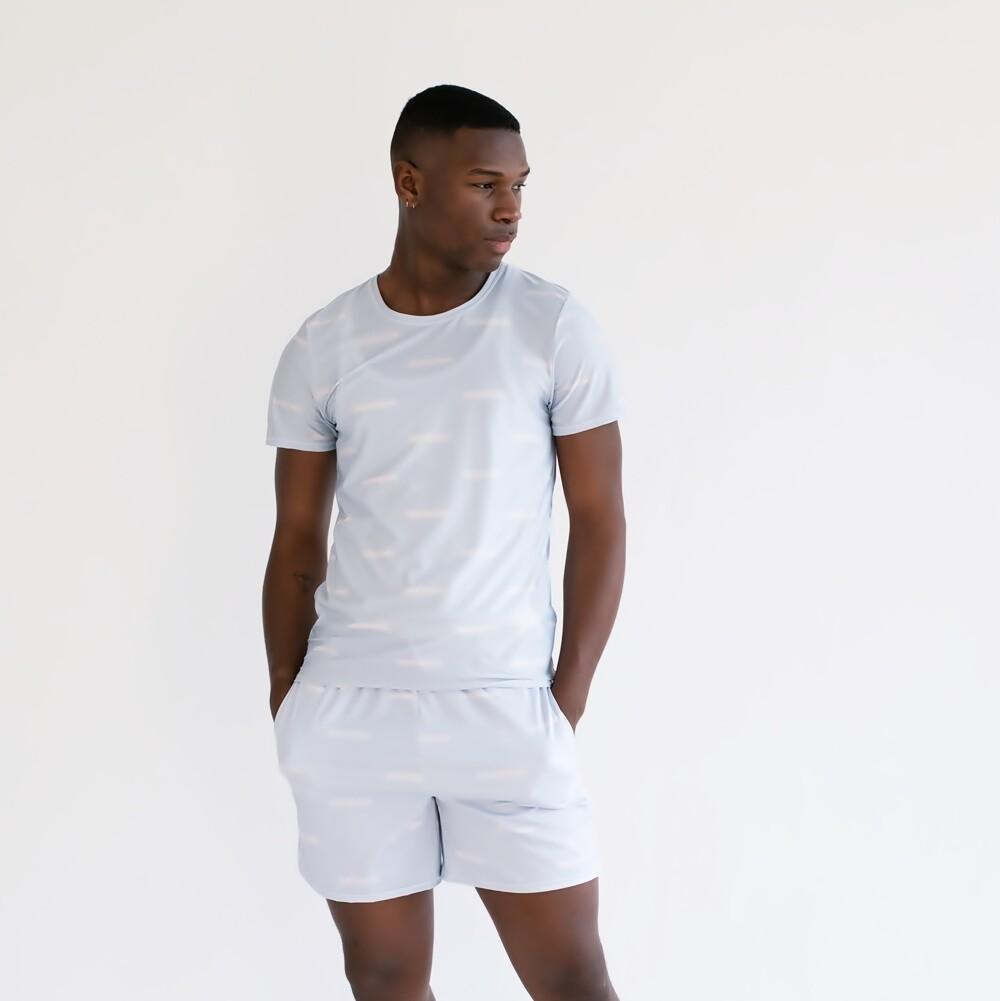 Men's Cultured Class Pale Blue Tennis Shorts