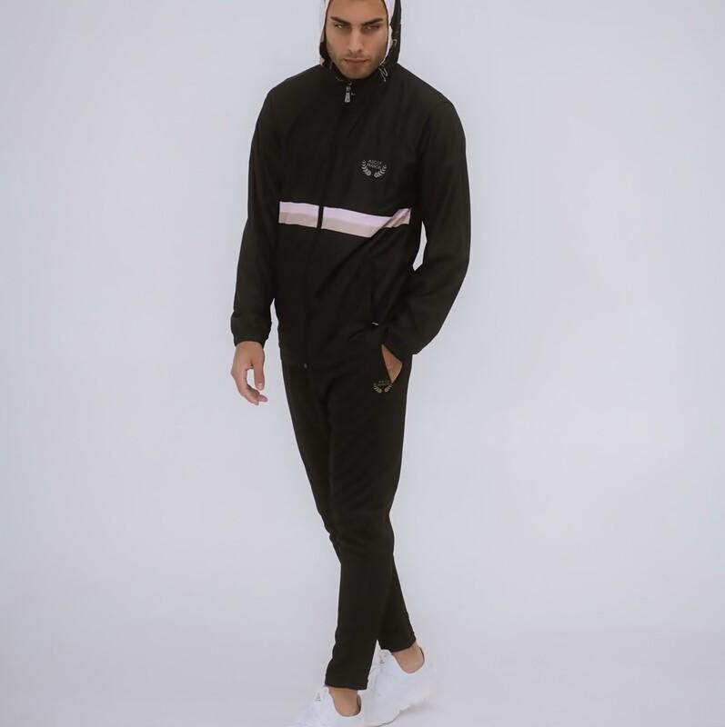 Men's Aristocrat Black Wear-Resistant Premium Joggers