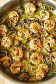 pesto marinated shrimp