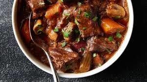 Cuban beef stew dinner