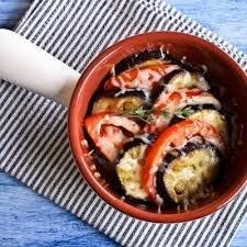 Eggplant Caprese dinner