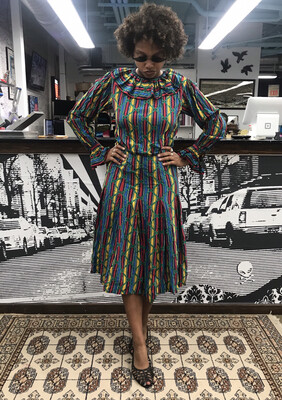 Saint Laurent Rive Gauche 1980's Vintage Dress