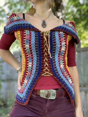 Retro Granny Square Vest