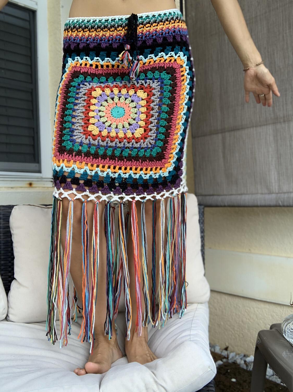 Sun Goddess Fringe Skirt