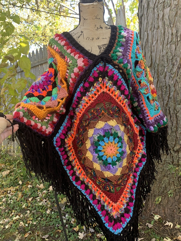 Mandala Burst Poncho