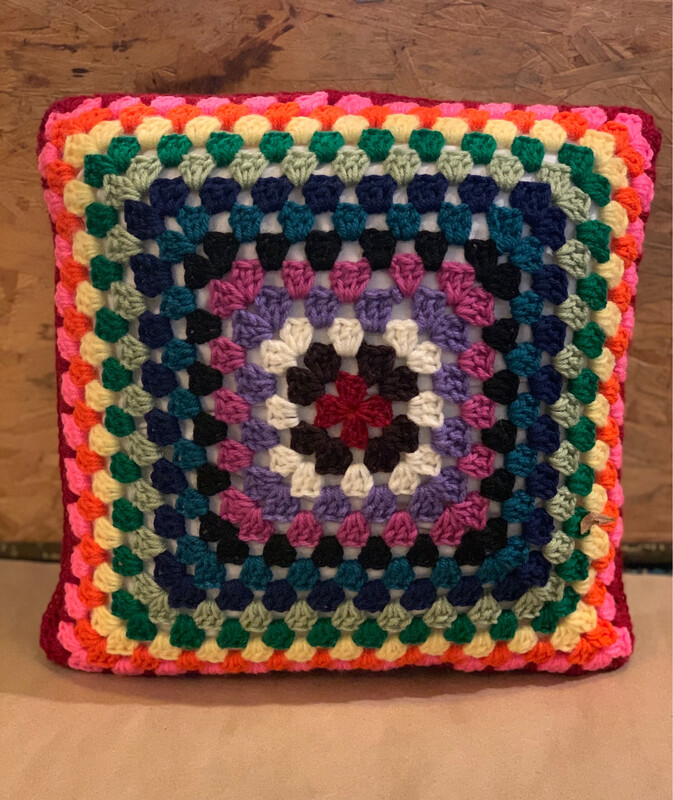 "14"" Granny Square Pillow"