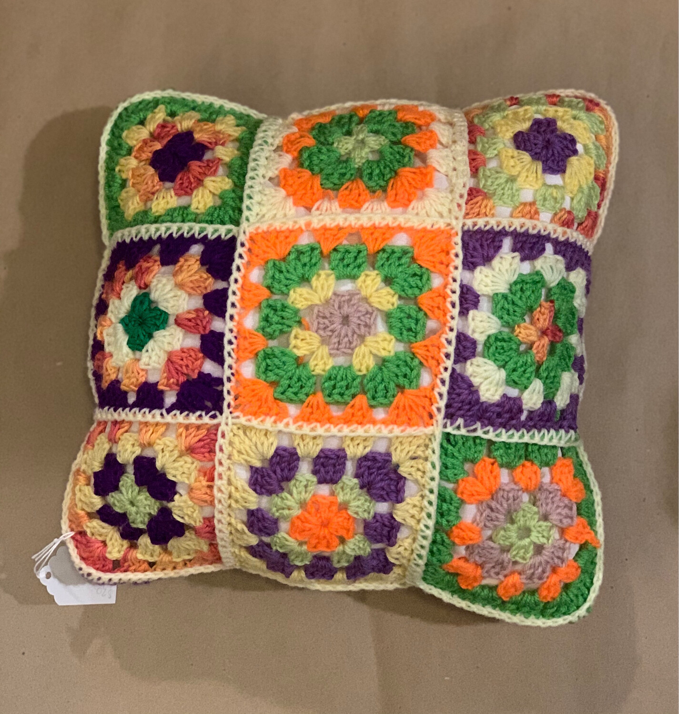 "12"" Granny Square Pillow"