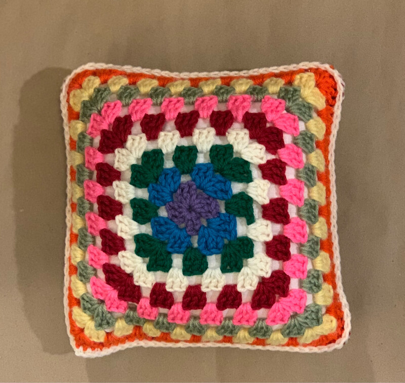 "10"" Granny Square Pillow"