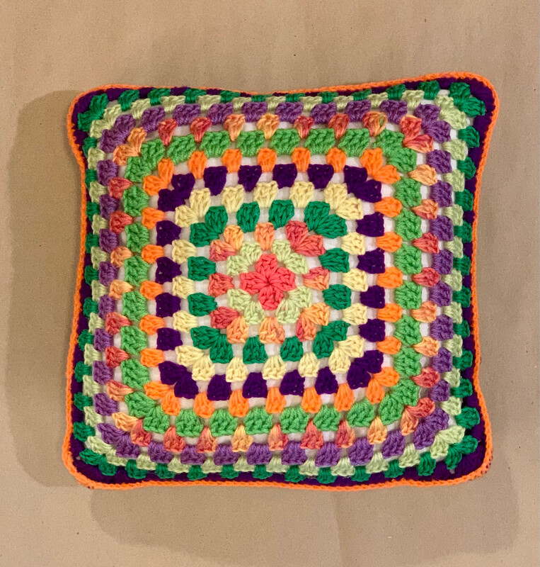 "12"" Granny Square Pillow"