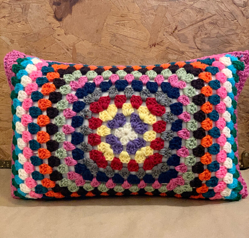 "12""x18"" Granny Square Pillow"