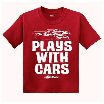 Plays With Cars Youth Tee - Red