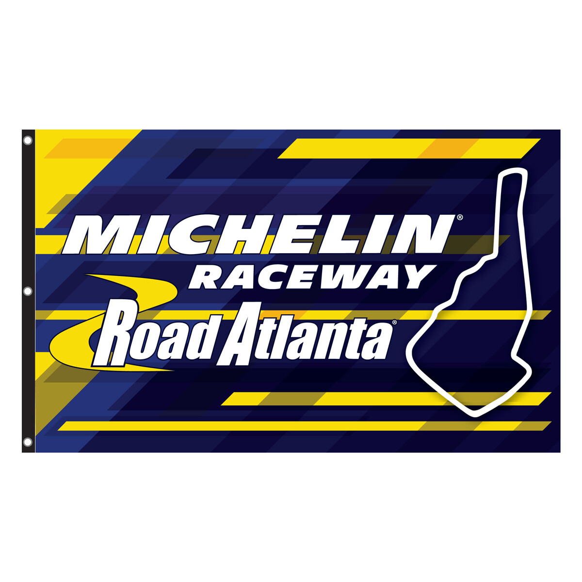 Michelin Raceway Road Atlanta Flag - Blue/Gold 3 x 5 Grommet