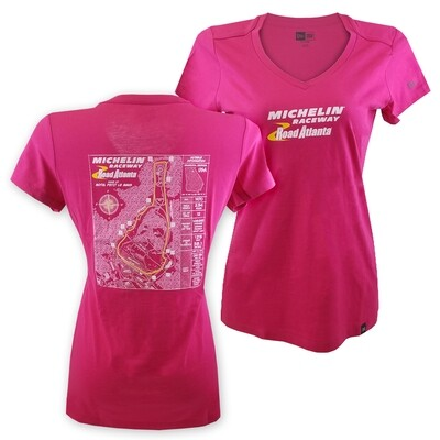 MRRA Ladies Blueprint T-Pink