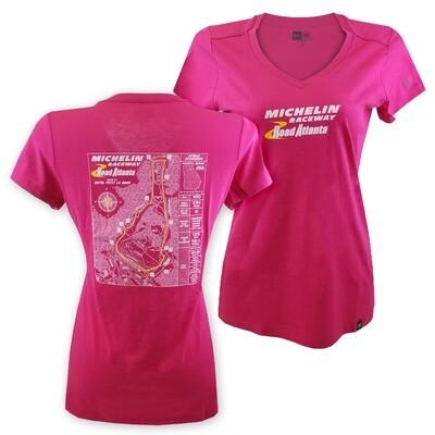 MRRA Ladies Blueprint T-Pink