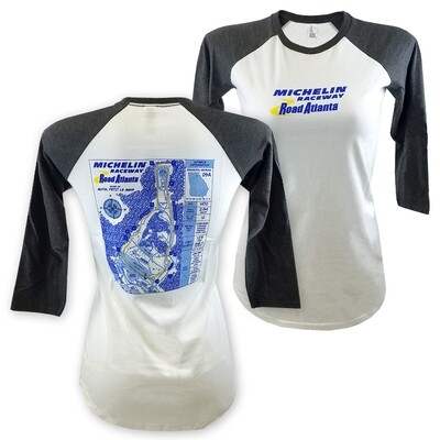 MRRA Ladies Blueprint T-White/Gry
