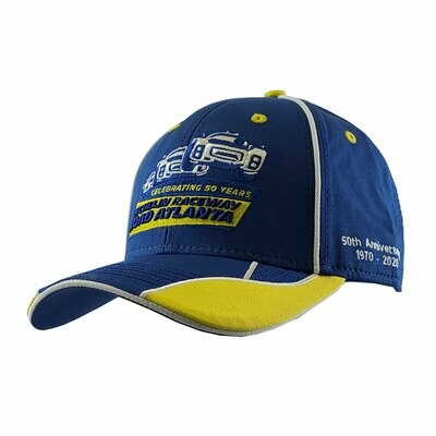 50th Vintage Cars Hat - Royal/Gold