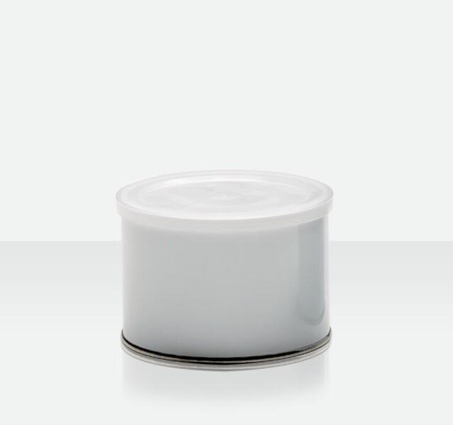 Empty tin with plastic lid