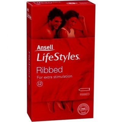 ANSELL L/STYLE C/DOM RIBBED 12