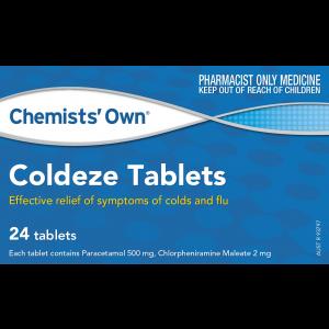 CHEMISTS OWN COLDEZE TAB 24            S3